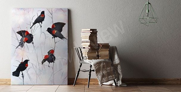 Birds canvas print for the living room