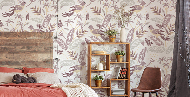 Birds mural for the bedroom