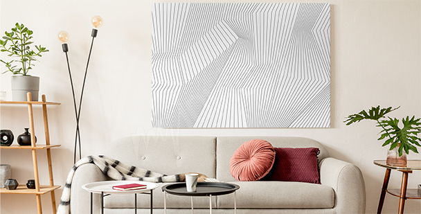 Black and white 3d canvas print