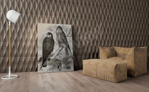 Black-and-white birds canvas print