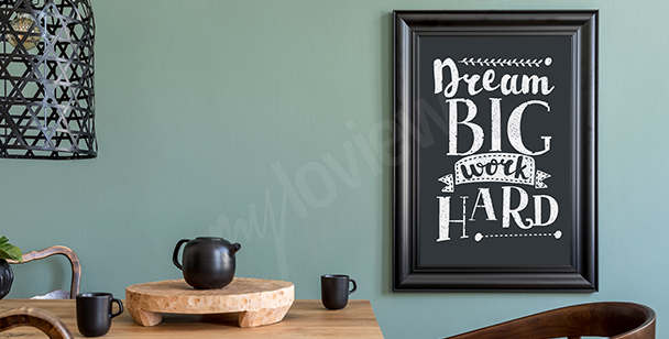 Black-and-white motivational poster