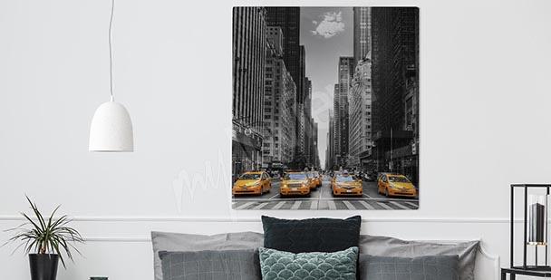 Black-and-white New York canvas print