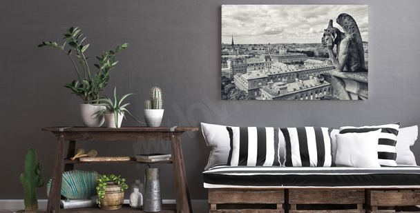 Rainy day in Paris canvas print