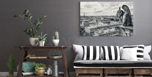 Black-and-white Paris canvas print