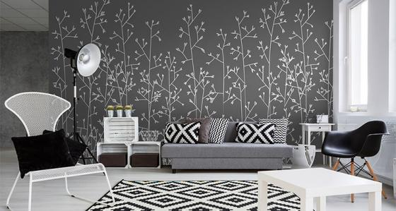Black and white wallpapers: less is more