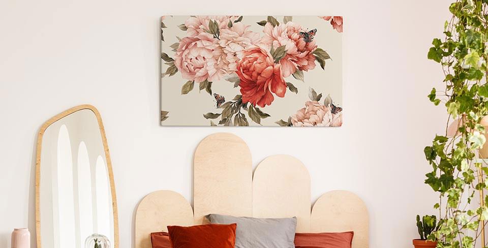 Blooming flowers canvas print