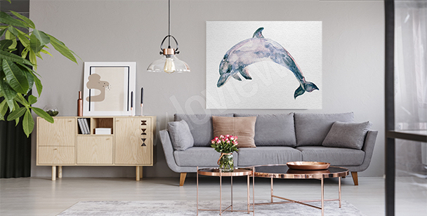 Blue marine mammal canvas print
