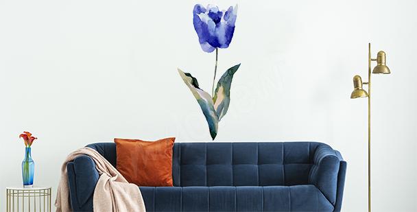Blue tulip sticker