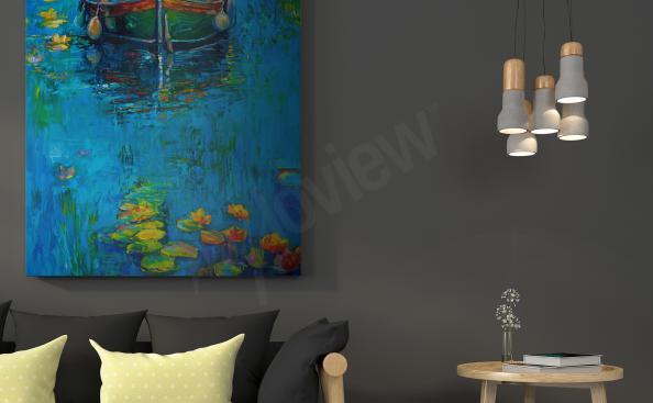 Boat impressionism canvas print