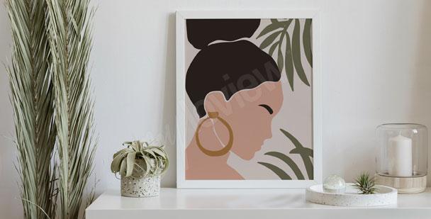 Boho poster – woman