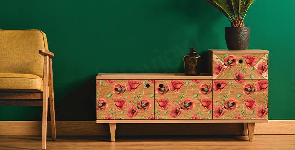 Botanic chest of drawers sticker