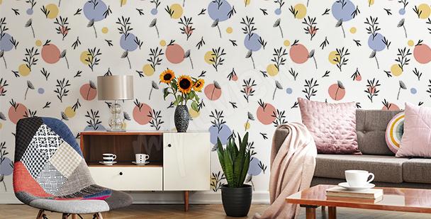 Botanic pattern mural