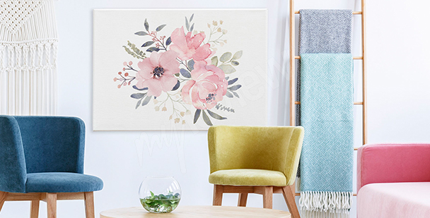 Bouquet of roses canvas print