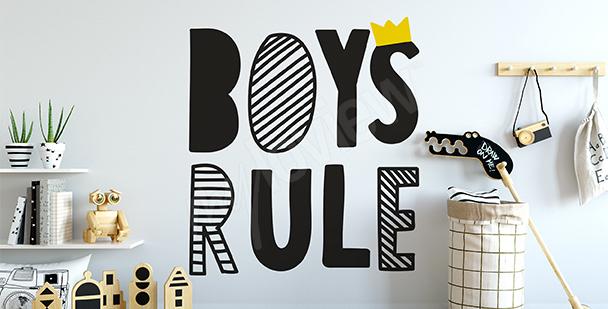 Boys rule sticker