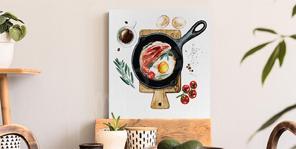 Breakfast pan canvas print