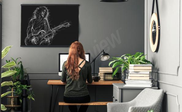 Brian May musician poster