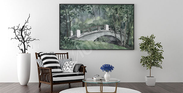 Bridge canvas print for living room