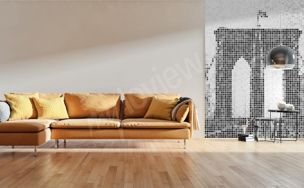 Brooklyn Bridge mural for living room