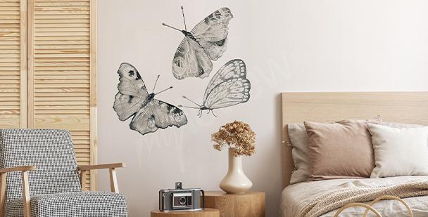 Butterfly bedroom sticker
