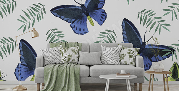 Butterfly eco living room mural