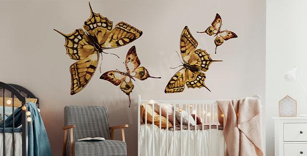 Butterfly nursery sticker