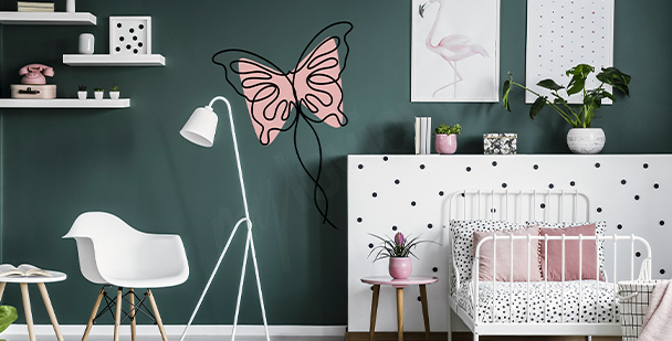 Watercolor butterflies sticker