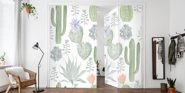 Cacti door sticker