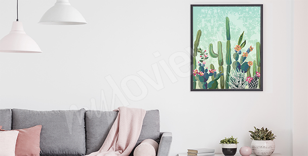 Cacti poster for the living room