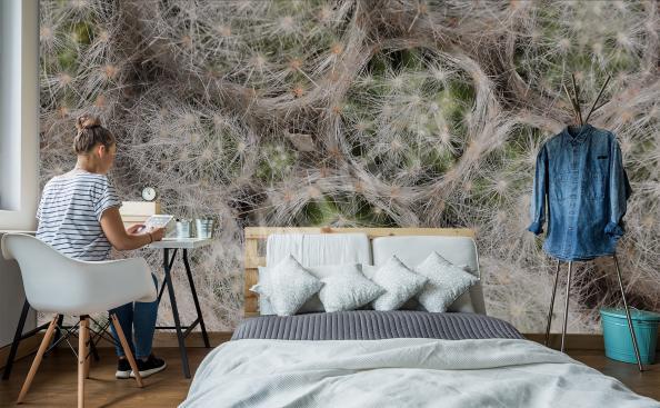 Cacti texture mural