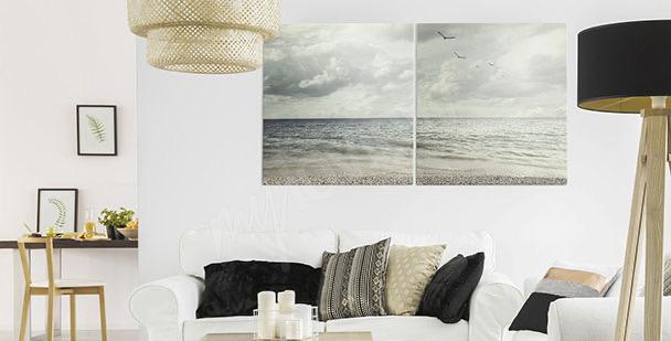 Calm sea canvas print