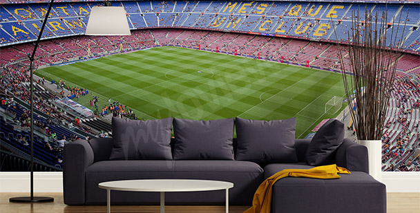 Camp Nou football mural