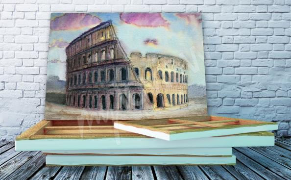 Canvas print architecture of Rome