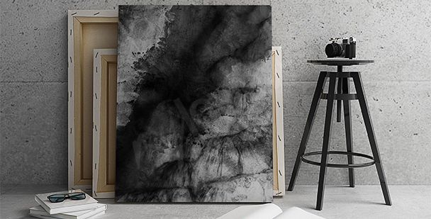 Canvas print black abstraction