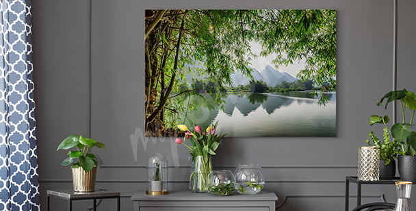 Canvas print depicting a river in China