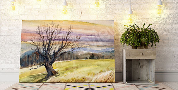 Canvas print featuring a fall landscape
