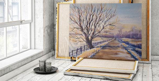 Canvas print featuring a landscape