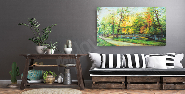 Canvas print featuring fall nature