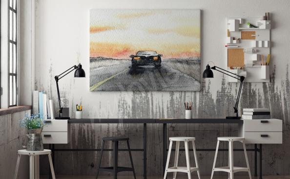 Canvas print for a boy car