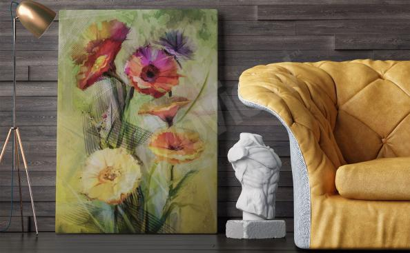 Canvas print for the living room flowers