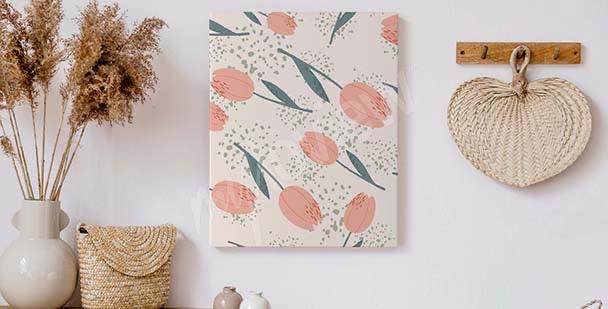 Canvas print in minimalist style