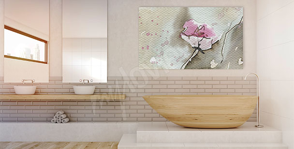Canvas print pink flower