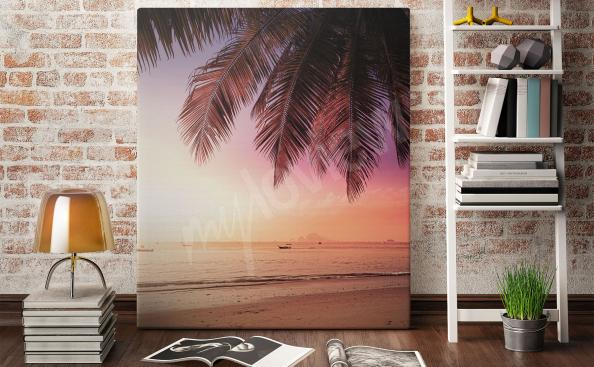 Canvas print sea and beach