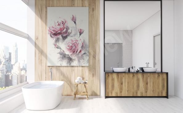 Canvas print to the bathroom roses