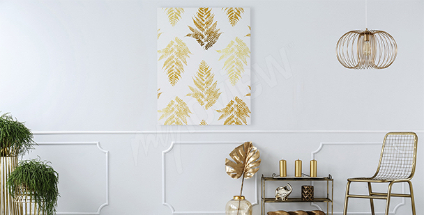 Canvas prints golden leaves