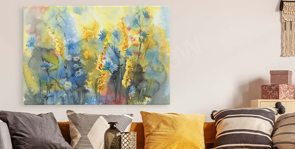 Canvas prints in warm colours