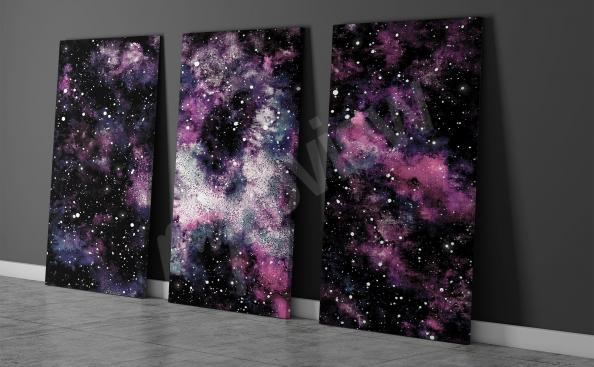 Canvas prints of a cosmic nebula