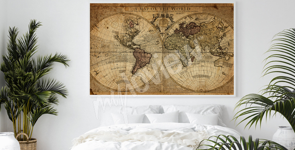 Cartography bedroom poster