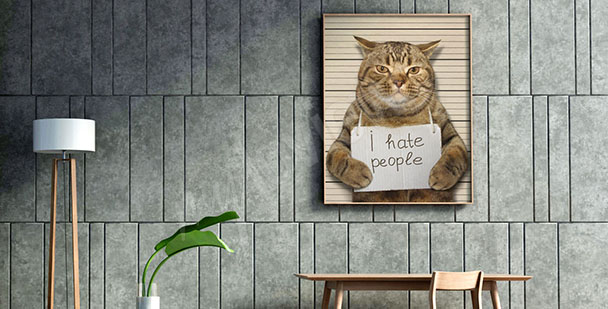 Cat canvas print for teens