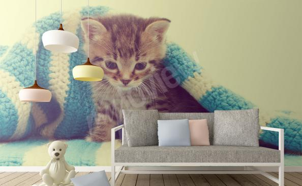 Cat mural for living room