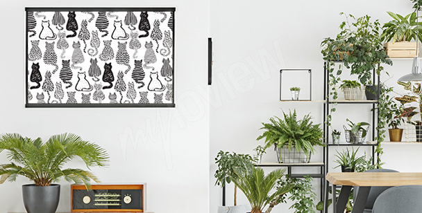 Cat poster for the living room